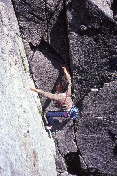Noel Ward on Dihedral Corner - Blue Lake