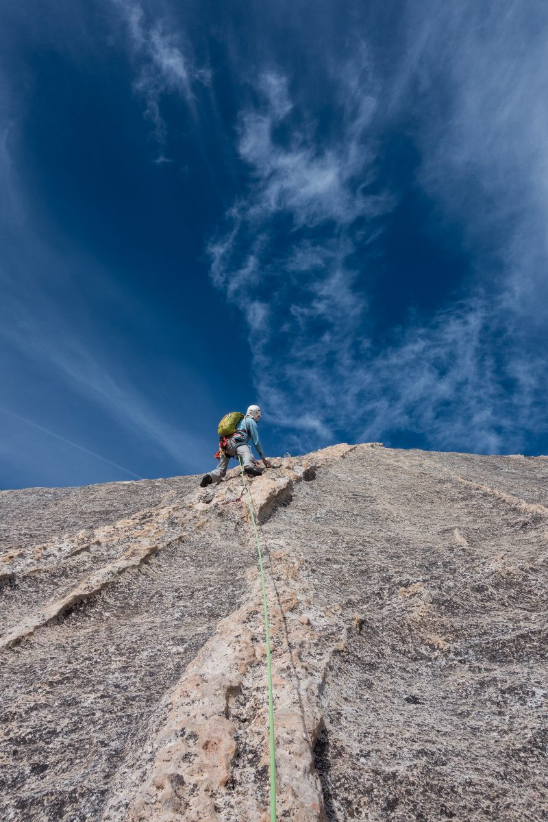Peter Blunt on Snake Dike, Half Dome, Yosemite National Park