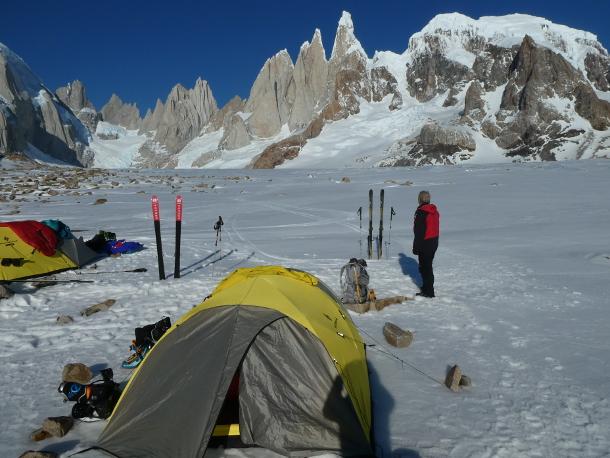 Patagonia - Cerro Torre campsite - Ken Baldwin & Theo Hooy, 2019