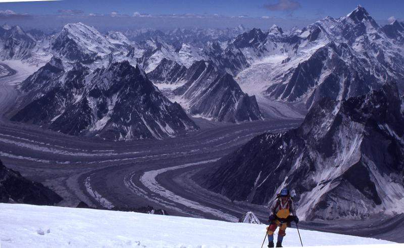 Approaching Camp 3 on Broad Peak